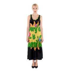 Earth Day Sleeveless Maxi Dress by Valentinaart