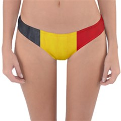 Belgium Flag Reversible Hipster Bikini Bottoms by Valentinaart