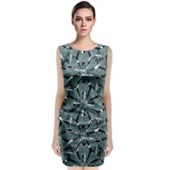 Modern Oriental Ornate Pattern Classic Sleeveless Midi Dress by dflcprints