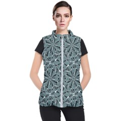Modern Oriental Ornate Pattern Women s Puffer Vest by dflcprints
