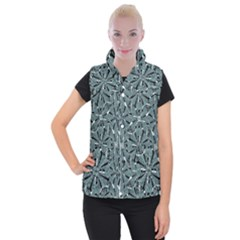 Modern Oriental Ornate Pattern Women s Button Up Vest