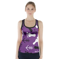 Purple Racer Back Sports Top by HASHHAB