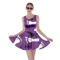Purple Skater Dress by HASHHAB