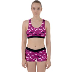 Hot Pink Work It Out Gym Set by HASHHAB