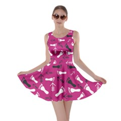 Hot Pink Skater Dress by HASHHAB