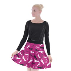 Hot Pink Suspender Skater Skirt by HASHHAB