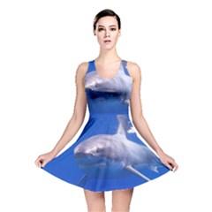 Great White Shark 4 Reversible Skater Dress by trendistuff