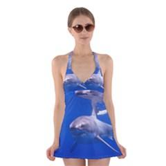 Great White Shark 4 Halter Dress Swimsuit  by trendistuff