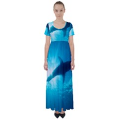 Great White Shark 6 High Waist Short Sleeve Maxi Dress by trendistuff