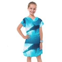 Great White Shark 6 Kids  Drop Waist Dress by trendistuff