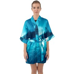 Great White Shark 6 Quarter Sleeve Kimono Robe by trendistuff