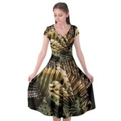 Lionfish 3 Cap Sleeve Wrap Front Dress by trendistuff