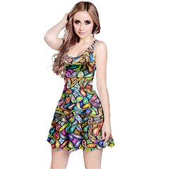 Artwork By Patrick Colorful 6 Reversible Sleeveless Dress by ArtworkByPatrick