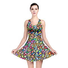 Artwork By Patrick Colorful 6 Reversible Skater Dress by ArtworkByPatrick