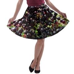 Elderberries A Line Skater Skirt by trendistuff