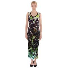 Elderberries Fitted Maxi Dress by trendistuff