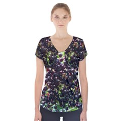 Elderberries Short Sleeve Front Detail Top by trendistuff