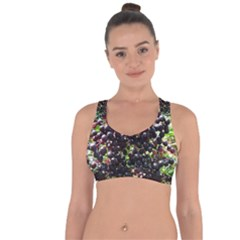 Elderberries Cross String Back Sports Bra by trendistuff