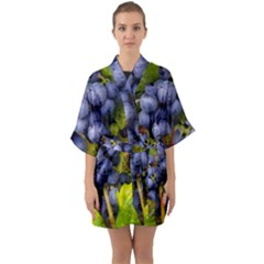 Grapes 1 Quarter Sleeve Kimono Robe by trendistuff