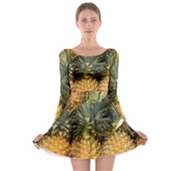Pineapple 1 Long Sleeve Skater Dress by trendistuff