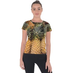 Pineapple 1 Short Sleeve Sports Top  by trendistuff