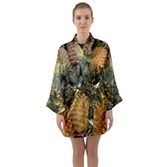 Pineapple 1 Long Sleeve Kimono Robe by trendistuff