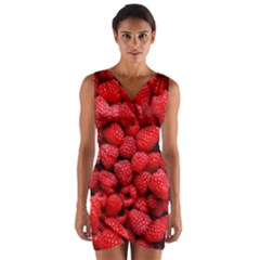 Raspberries 2 Wrap Front Bodycon Dress by trendistuff