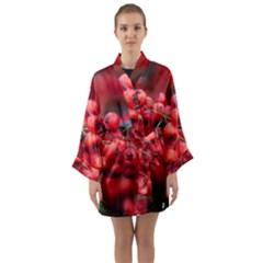 Red Berries 1 Long Sleeve Kimono Robe by trendistuff