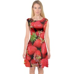 Strawberries 1 Capsleeve Midi Dress by trendistuff