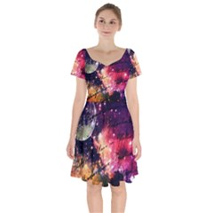 Letter From Outer Space Short Sleeve Bardot Dress by augustinet