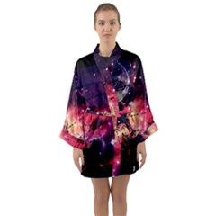 Letter From Outer Space Long Sleeve Kimono Robe by augustinet
