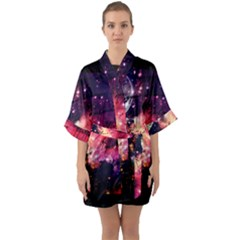Letter From Outer Space Quarter Sleeve Kimono Robe by augustinet