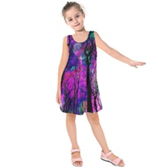 Magic Forest Kids  Sleeveless Dress by augustinet