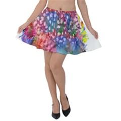 Rainbow Owl Velvet Skater Skirt by augustinet