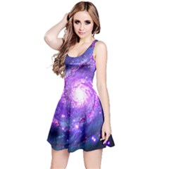 Ultra Violet Whirlpool Galaxy Reversible Sleeveless Dress by augustinet