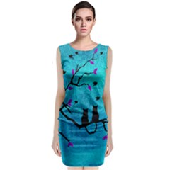 Lovecats Classic Sleeveless Midi Dress by augustinet