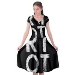Riot Cap Sleeve Wrap Front Dress by Valentinaart