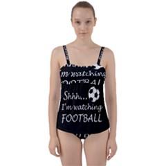 Football Fan  Twist Front Tankini Set by Valentinaart