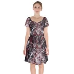 Grunge Pattern Short Sleeve Bardot Dress by Valentinaart