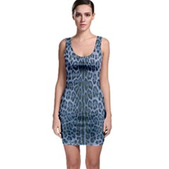 Blue Leopard Print Bodycon Dress by CasaDiModa