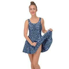 Blue Leopard Print Inside Out Dress by CasaDiModa