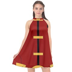 Robin Body Costume Halter Neckline Chiffon Dress