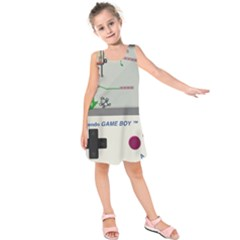 Game Boy White Kids  Sleeveless Dress