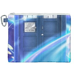 Tardis Space Canvas Cosmetic Bag (xxl) by Samandel