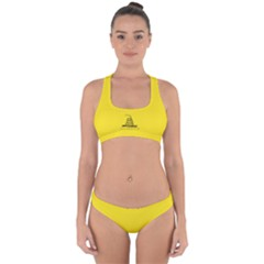 Gadsden Flag Cross Back Hipster Bikini Set by snek