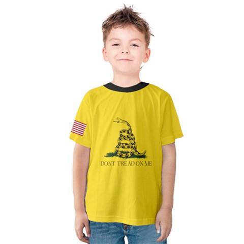 Gadsden Flag Don t Tread On Me Kids  Cotton Tee by snek