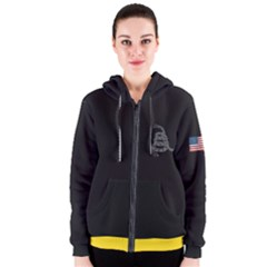 Gadsden Flag Don t Tread On Me Women s Zipper Hoodie by snek