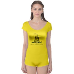 Gadsden Flag Don t Tread On Me Boyleg Leotard  by MAGA