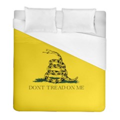 Gadsden Flag Don t Tread On Me Duvet Cover (full/ Double Size) by snek