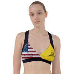 Gadsden Flag Don t Tread On Me Sweetheart Sports Bra by snek